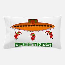 Space Aliens Christmas Pillow Case