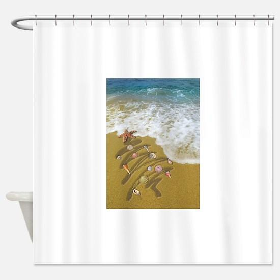 Cute Tropical christmas Shower Curtain