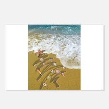 Funny Hawaiian christmas Postcards (Package of 8)