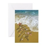 Christmas beach Greeting Cards (20 Pack)