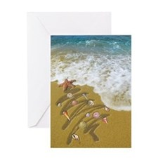 Washed Up on Shore no edges Greeting Cards