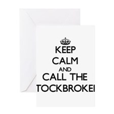 Keep calm and call the Stockbroker Greeting Cards