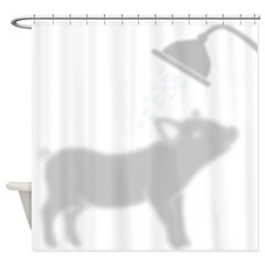 Adorable Piggy In Shower Curtain