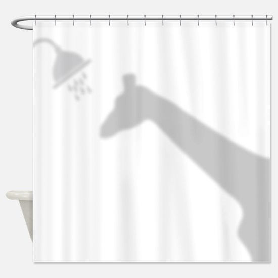 Funny Giraffe Shadow Shower Curtain