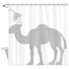 Camel Shadow Shower Curtain
