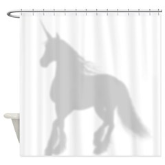 Shadow Unicorn Silhouette Shower Curtain