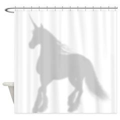 Shadow Unicorn Silhouette Shower Curtain