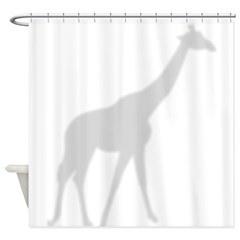 Shadow Giraffe Silhouette Shower Curtain