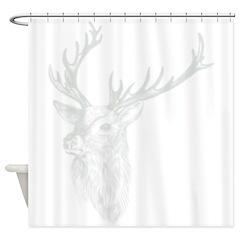 Trophy Deer Shadow Shower Curtain