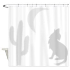 Howling Coyote Saguaro Shower Curtain