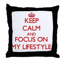 Cute I live act Throw Pillow