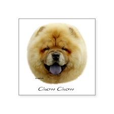 "Chow Chow Square Sticker 3"" x 3"""