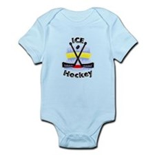 Ice Hockey Crossed Sticks Body Suit