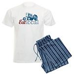 Eat Local Patriotic Men's Light Pajamas