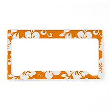 Orange Hawaiian Hibiscus License Plate Holder