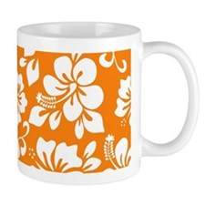 Orange Hawaiian Hibiscus Mugs