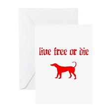 Live Free Greeting Card