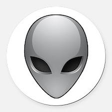 UFO Alien Round Car Magnet