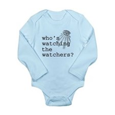 Watching the Watchers Long Sleeve Infant Bodysuit