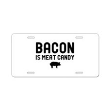Bacon Meat Candy Aluminum License Plate
