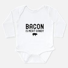 Bacon Meat Candy Long Sleeve Infant Bodysuit