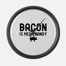 Bacon Meat Candy Large Wall Clock
