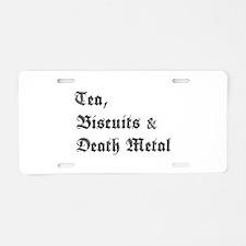 Death Metal Aluminum License Plate