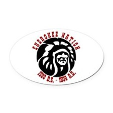Cherokee Nation Oval Car Magnet