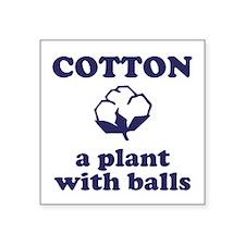 """Cotton Balls Square Sticker 3"""" x 3"""""""