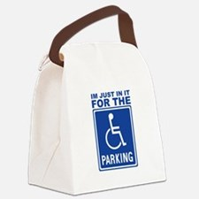 parking1.png Canvas Lunch Bag