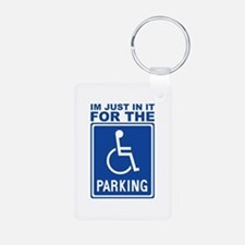 parking1.png Aluminum Photo Keychain