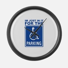parking1.png Large Wall Clock
