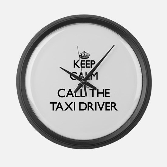 Cool Taxi Large Wall Clock