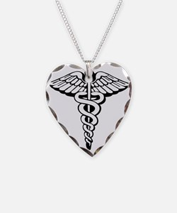 The Caduceus Necklace Heart Charm