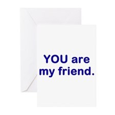 myfriend1.png Greeting Cards (Pk of 20)
