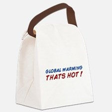 warming1.png Canvas Lunch Bag