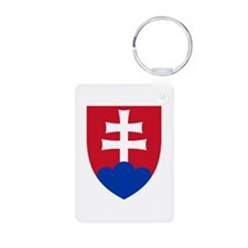 slovakia Aluminum Photo Keychain