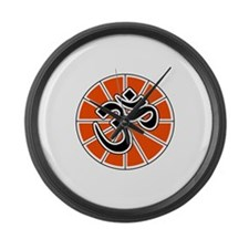 aum-white.png Large Wall Clock