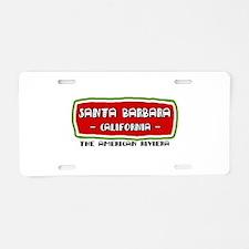 santa-barb-w.png Aluminum License Plate