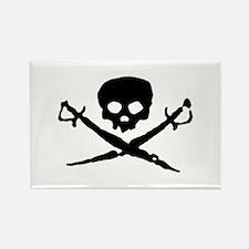 skull2-w.png Rectangle Magnet (100 pack)