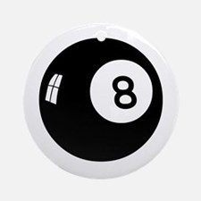 8ball-n-w.png Ornament (Round)
