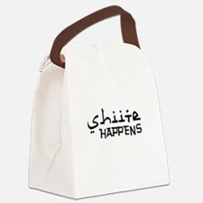 shiite-happens-v.png Canvas Lunch Bag