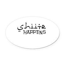 shiite-happens-v.png Oval Car Magnet