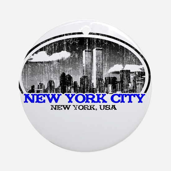 NYC-white.png Ornament (Round)