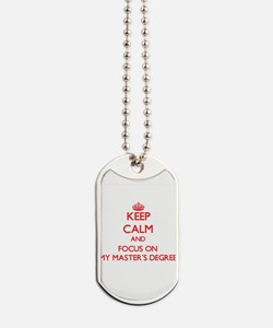 Unique Masters degree Dog Tags