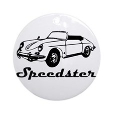 speedster-w.png Ornament (Round)