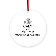 Unique Technical writer Ornament (Round)