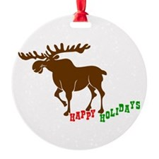Moose Holidays Ornament