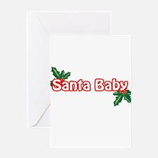 santababy-n-w.png Greeting Card