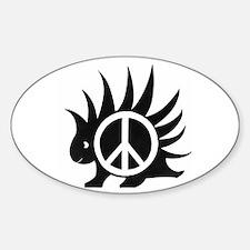 Porcupine Peace Oval Decal